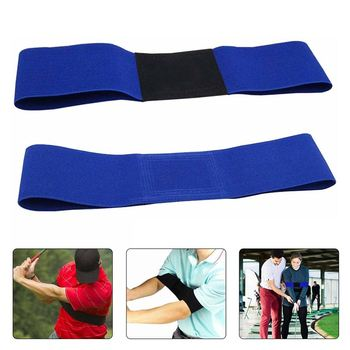 Golf Swing Trainer Aid Arm Elastic Band Belt Posture Motion Correction For Beginner Training Accessories