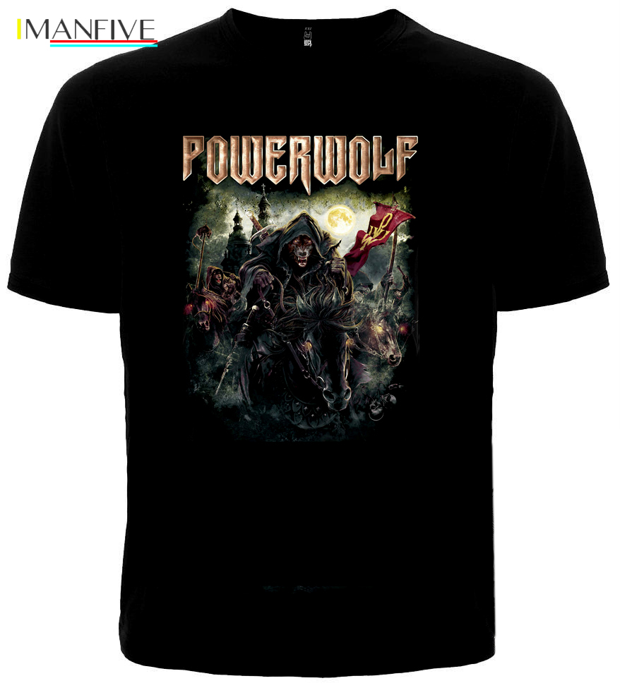T shirt POWERWOLF quot THE METAL MASS quot New Different Size S 3XL Metal Nation Band Hip Hop Clothing Short Sleeve T Shirt Top Tee in T Shirts from Men 39 s Clothing