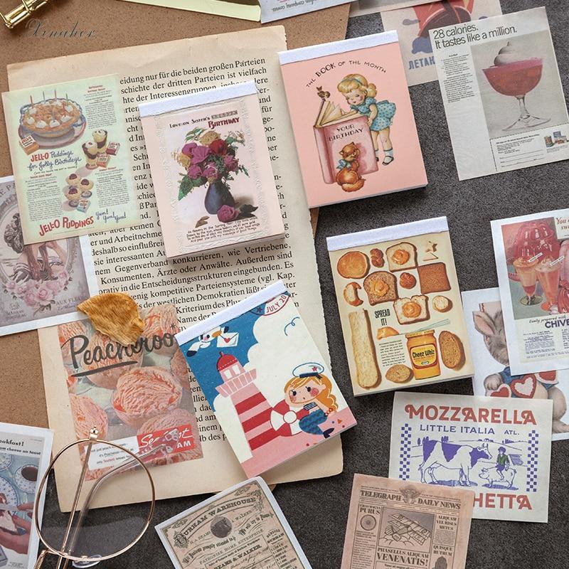 Vintage Material Paper Decoration Diary Mini Scrapbooking Card Making Journaling