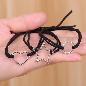 Korea hollowed-out love network red tie hair leather rope simple ins small ring rubber band lovers circle