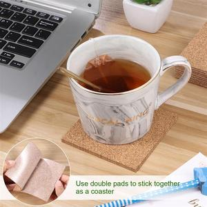 Image 5 - 80pcs 95x95mm Self Adhesive Square Cork Sheets for DIY Coasters Cork Tiles Cork Mat