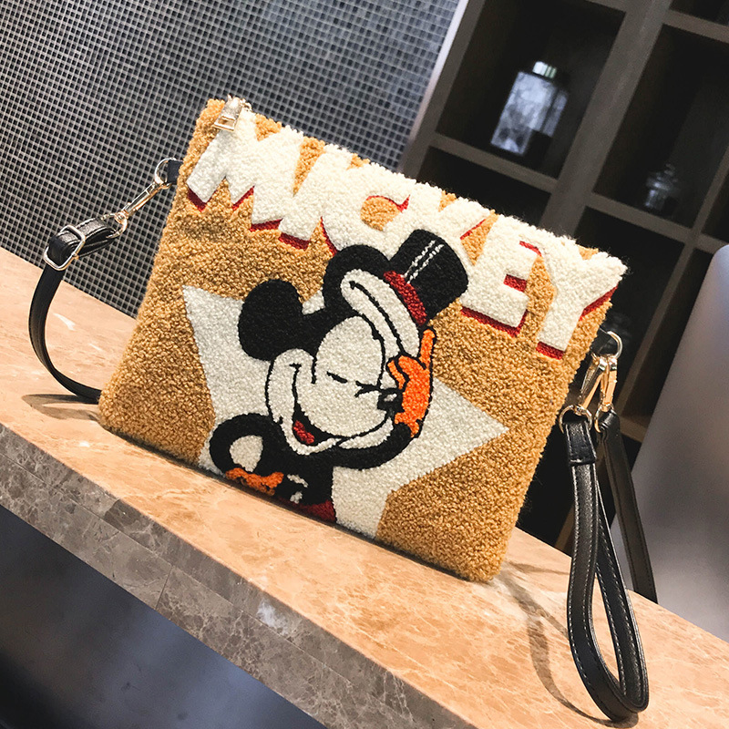 Disney New Mickey Mouse Lady Cartoon Handbag Clutch Shoulder Bag Messenger Bag HandBags