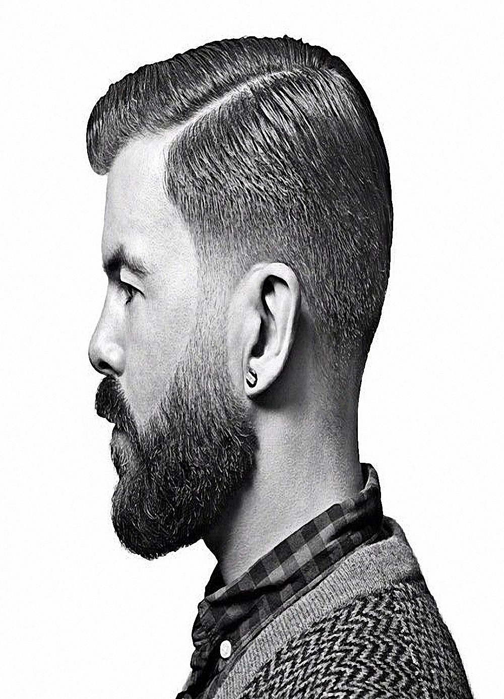 Jungen Neue Bart Frisuren Männer Kurze Haarschnitte Friseur Dekoration  Salon Friseur Wand Kunst Vintage Kraft Papier Poster A11