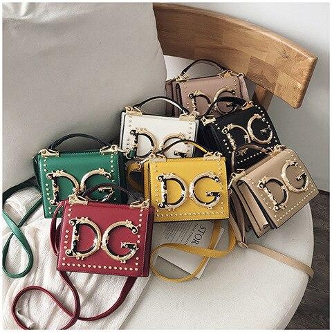 2019 New Style Bag With Chain Versatile Metal Letter Decoration Shoulder Oblique Bag Fashion Women's Handbag