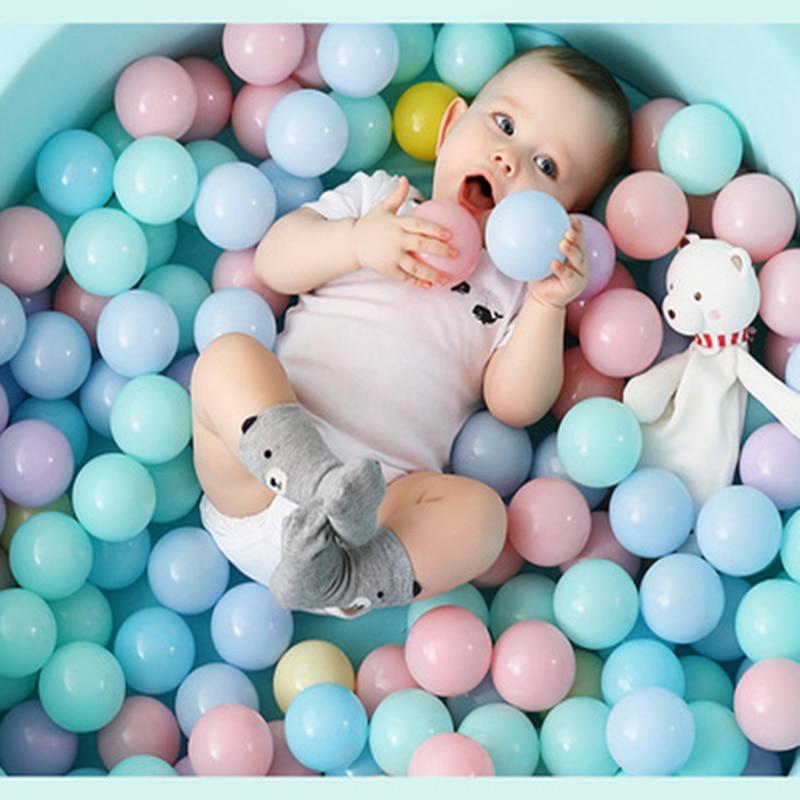 50/100 sztuk plastikowa piłka przyjazne dla środowiska kolorowa piłka śmieszne dziecko dziecko zabawka Swim Pit basen z wodą fala oceaniczna średnica kulki zabawki
