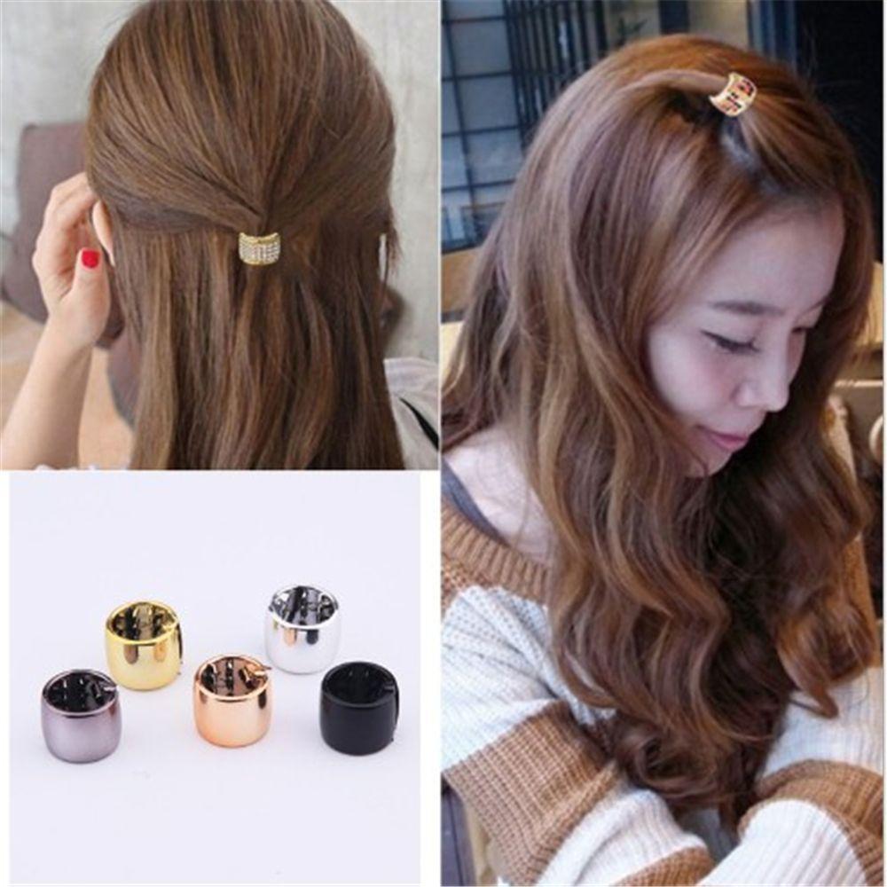 1Pc Korean Luxury Rhinestone Pearls Metal Geometric Hairpins Crab Claws   Hair Clips For Girl Styling Accessories Headwear