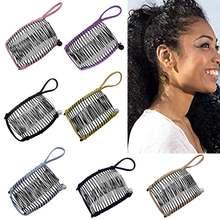 Металлический гребень для волос в стиле унисекс 7 цветов