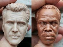 Sem pintura 1/6 escala mel gibson danny glover cabeça esculpir modelo para figura de ação bonecas soldado acessórios pintura exercício