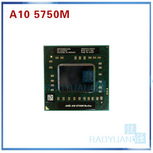 AMD Laptop A10 Seri 5700M A10 5750M A10-5750m AM5750DEC44HL Socket FS1 CPU 4M Cache/2.5G Hz quad-Core Prosesor GM45/PM45(China)