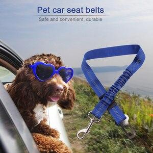 Image 3 - Pet Supplies Car Seat Belt Dog Seat Belt Dog Leash Traction Belts Cushioning Elastic Reflective Safety Rope Traction Rope Dog