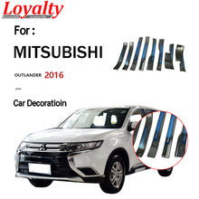 Loyalty for mitsubishi outlander 2016 Door Sill Threshold Cover Trim Stainless Steel Car Styling Accessories 8PCS car accessories car sticker stainless steel slim for outlander wording 3d letter sticker trim for mitsubishi outlander