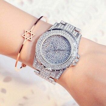 New Women Watches Fashion Diamond Dress Watch High Quality Luxury Rhinestone Lady Wristwatches Quartz Watch with Box&Watch tool