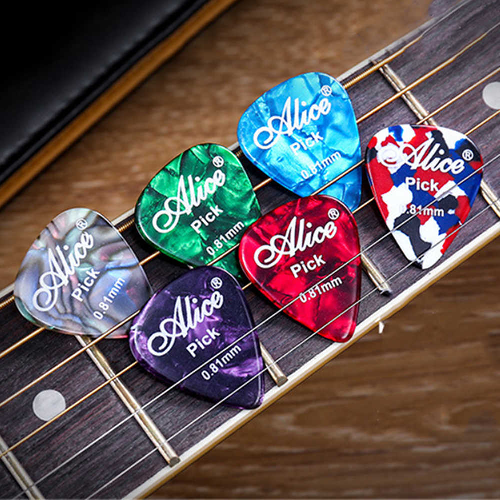 2/6/10 pcs Guitar Picks Mediator Thickness 0.46 0.71 0.81 0.96 1.20 1.50 mm - Color Random
