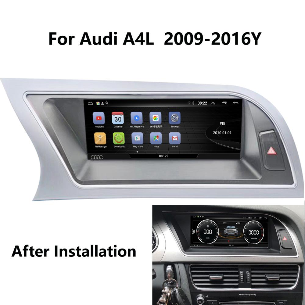COIKA Navi Screen-Stereo Carplay Android-8.1-System Car-Ips-Mirror WIFI SWC Audi A4 2009