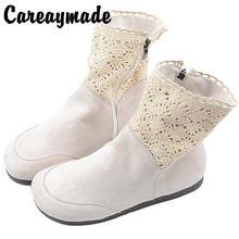 Careaymade Корейская версия новых ретро одноботинок тонкие ботинки