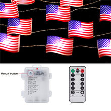 3M Independence Day LED Stringไฟ 10FT 30LEDs American Flagไฟตกแต่งไฟLed Stringห้องนั่งเล่นParty decor(China)