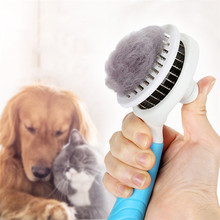 Self Cleaning pet dog comb hair remover Pet Hair shedding Comb Pet Dog Cat Brush dog grooming Slicker Brush Tool brosse chien pet grooming comb tool pet hair cleaning brush magic pet dog cat massage hair removal brush dog shedding comb