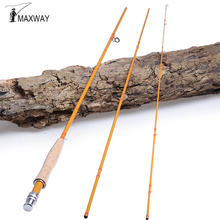 MAXWAY Fly Fishing Rod 2.7M/9ft 5/6wt 3 Sections 24T+30T Carbon Fiber Fishing Rods Medium Fast Action Fly Rod
