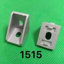 De aluminio 1515 2525 esquina guarniciones de soporte de ángulo de esquina para conector de perfil de aluminio CNC Router