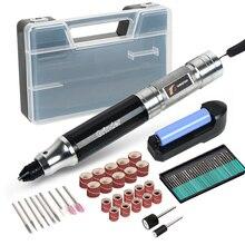 تنغفول مثقاب لاسلكي صغير النقش القلم الحفر الكهربائية طاحونة مع بطارية ليثيوم 3.7 فولت قابلة للشحن أدوات حفر اليشم