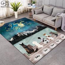 Модные мягкие фланелевые коврики с 3d принтом i love you moon