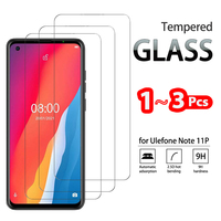 1-3 uds completa vidrio templado para ULEFONE nota 11P 9P 8P 7P Protector de pantalla de cristal templado para la nota 7T 8 10 Película protectora