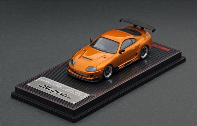 Ignition Model IG 164 Toyota Supra (JZA80) RZ Metallic Orange Diecast Model Car
