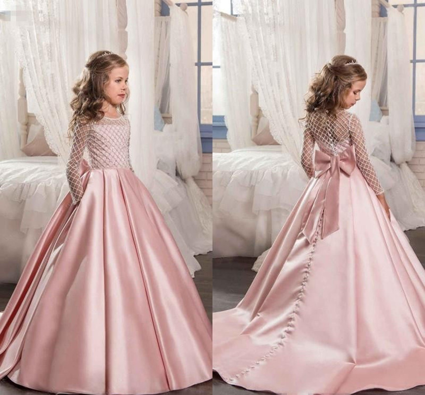 Flower Girls Dresses Kids Pageant Party Dance Wedding Birthday Ball Gown Princess Girl Dresses For Wedding