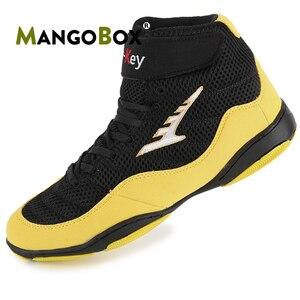 Zapatos de boxeo para hombre, zapatillas de lucha para hombres, de diseño profesional, de malla transpirable