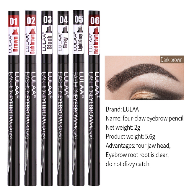 6 tint dye Waterproof  eyebrow pencil eyebrow shadow for eyebrows  makeup Waterproof Long Lasting  Sketch Liquid eyebrow wax 3