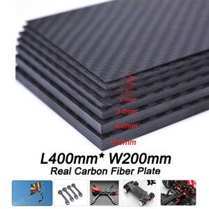 Image 1 - Láminas de paneles de fibra de carbono, 400mm X 200mm, 0,5mm, 1mm, 1,5mm, 2mm, 3mm, 4mm, 5mm de espesor, Material compuesto de dureza
