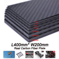 400mm X 200mm Real Carbon Fiber Plate Panel Sheets 0.5mm 1mm 1.5mm 2