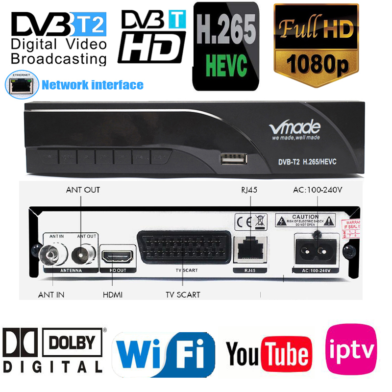2019 New H265 DVB-T2 Digital Broadcasting Tv Box Dvb T2 Terrestrial Digital Tv Receiver With HDMI Scart Dolby Ac3 H.265 Youtube