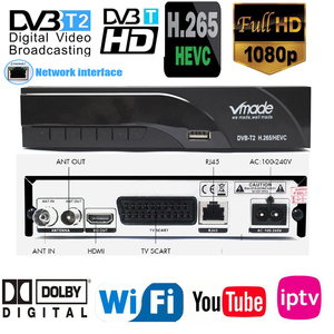 2019 New H265 DVB-T2 Digital Broadcasting Tv Box Dvb T2 Terrestrial Digital Tv Receiver With HDMI Scart Dolby Ac3 H.265 Youtube(China)