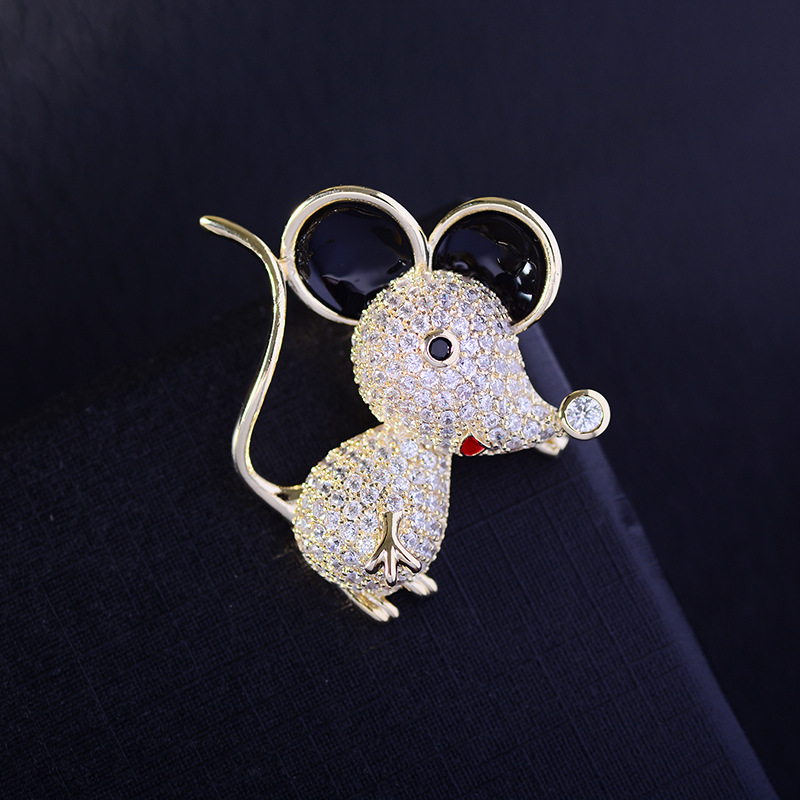 Bad Guy Zircon Brooches for Women's Mouse Brooches Pins Fashion Pins Accessories for Clothes Decoration Brooch Medical Cute Pins-4