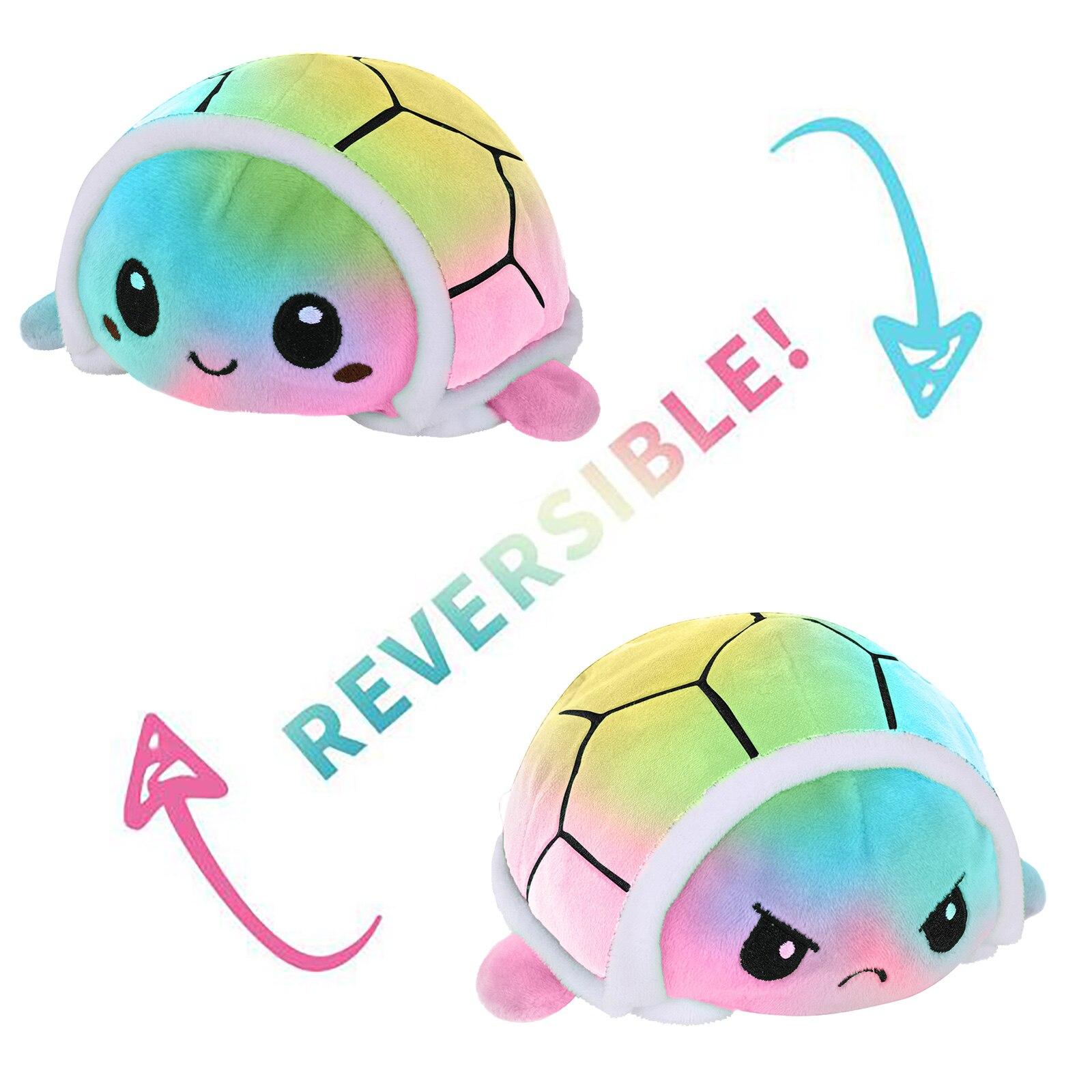 2021 12 видов стилей Двусторонняя Реверсивный черепаха Детские Plushie плюшевые Животные двухсторонний флип черепаха плюшевые куклы милые игруш...