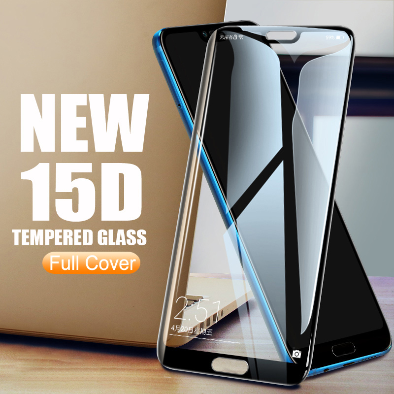 15D Tempered Glass On The For Huawei Honor 20 10 9 Lite V9 V10 V20 9i 10i 20S 8X 10 Lite Screen Protector Safety Glass Film Case