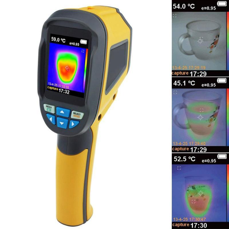 Caméra d'imagerie thermique portative de thermomètre infrarouge numérique tenu dans la main HT-02D dispositif d'imagerie infrarouge portatif d'imageur thermique d'ir