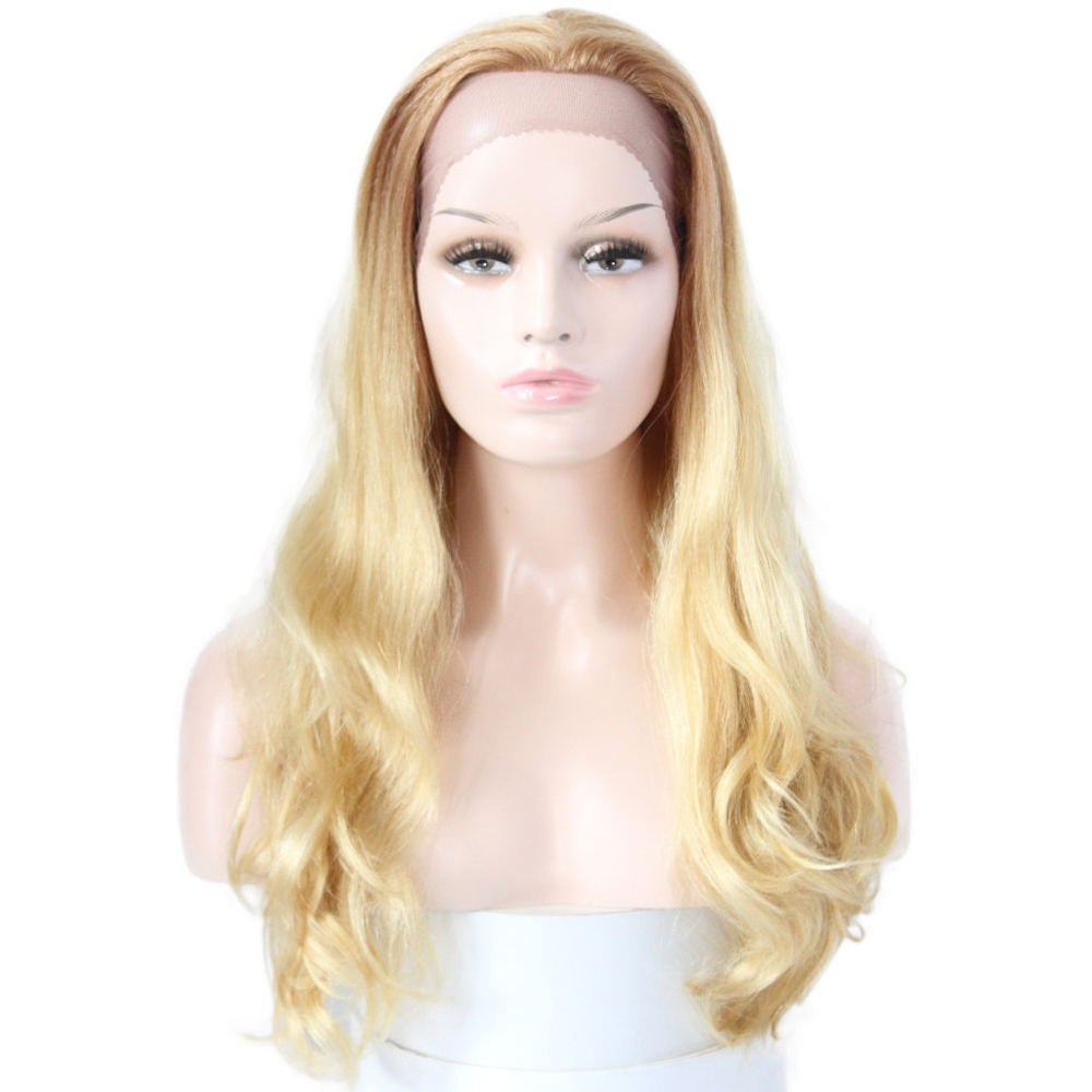 613 Honey Blonde Human Hair Wigs Euphoria Natural Wave Brazilian Remy Hair Wig Ombre Platinum Color Lace Front Wig For Women