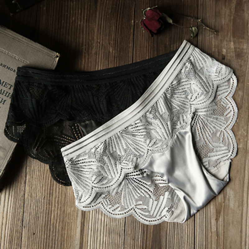 SP&CITY European Floral Embroidered Lace Transparent Sexy Underwear Women Breathable Hollow Out Sex   Panties   Seamless Lingerie