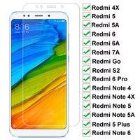 9H Vetro Temperato Per Xiaomi Redmi 5 Più 5 5A S2 7A 4X 6 6A Protezione Dello Schermo di Vetro Nota 4 4X 5 5A 6 Pro di Protezione di Sicurezza di Vetro