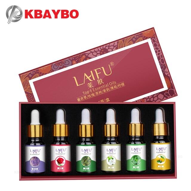 Puro Olio Essenziale della pianta per aroma diffusore Per Aromaterapia Olio Essenziale Biologico Alleviare Lo Stress Del Corpo 6 oli Fragranza Naturale