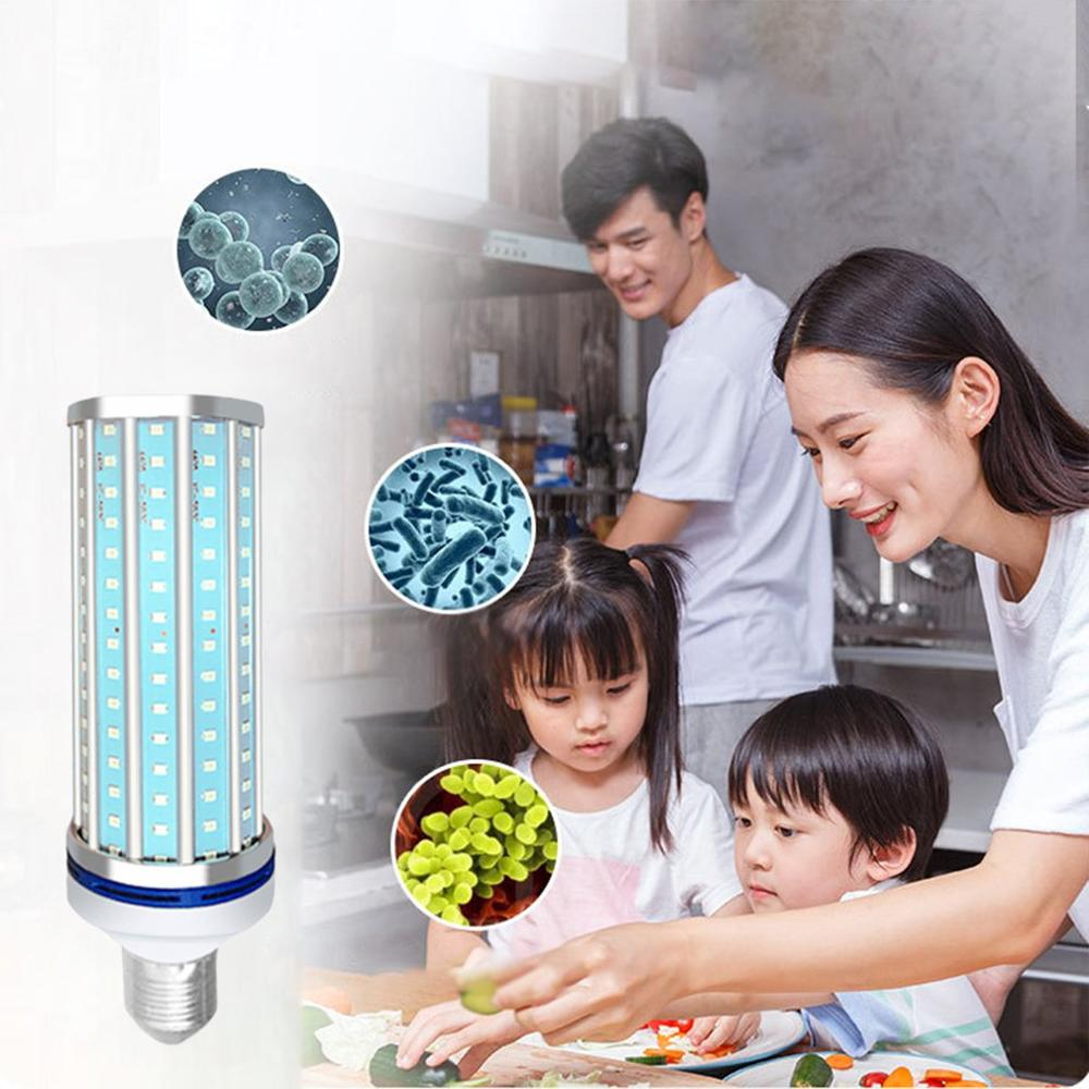 2020 New 60W UV Sterilization Lamp LED UVC Bulb E27 Household Ozone Disinfection Light Bulbs Entry Micro Ozone