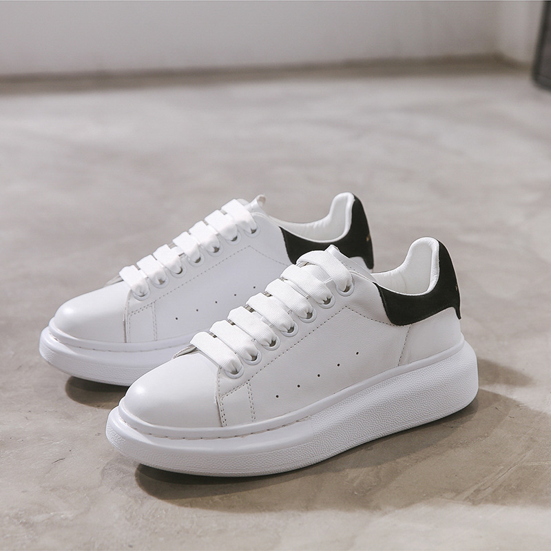 Yiluan Leather White Shoes Women Sneakers 2020 Spring New Casual Shoes Multicolor Increase Thick Soles Woman Board  Shoes