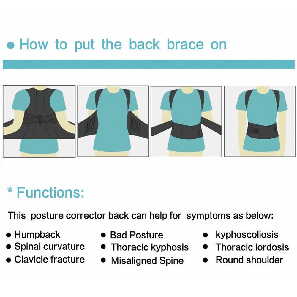 Tlinna Adjustable Posture Corrector Belt Made of Breathable Neoprene with 2 Aluminum Support Plate to Maximize Flexibility Helps to Shape Body Posture 5
