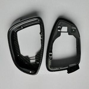 Image 3 - Yan kanat ayna konut çerçeve Trim (karbon look) volkswagen Scirocco için MK3 Passat B7 CC Jetta MK6 6 EOS Beetle değiştirin