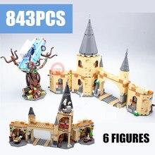 New Movie Hogwarts Whomping Willow Castle Potter Villa Fit Legoings Building Blocks Bricks Kids Toy Gifts Boy Birthday Christmas