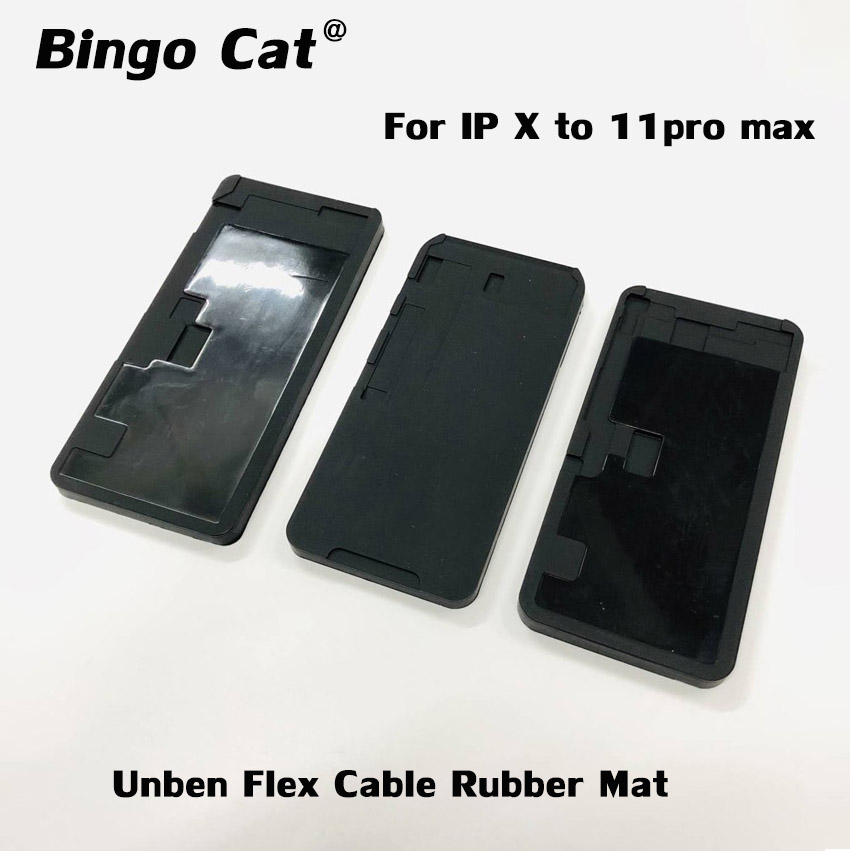 No Fold Flex Cable Black Rubber Pad OCA Laminating Mold Mat LCD Screen Refurbish Mould For iPhone 11