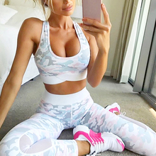 Camouflage Fitness Sport Suits Womens Yoga Clothing Set Workout Sportswear Female Tracksuits Running Clothes
