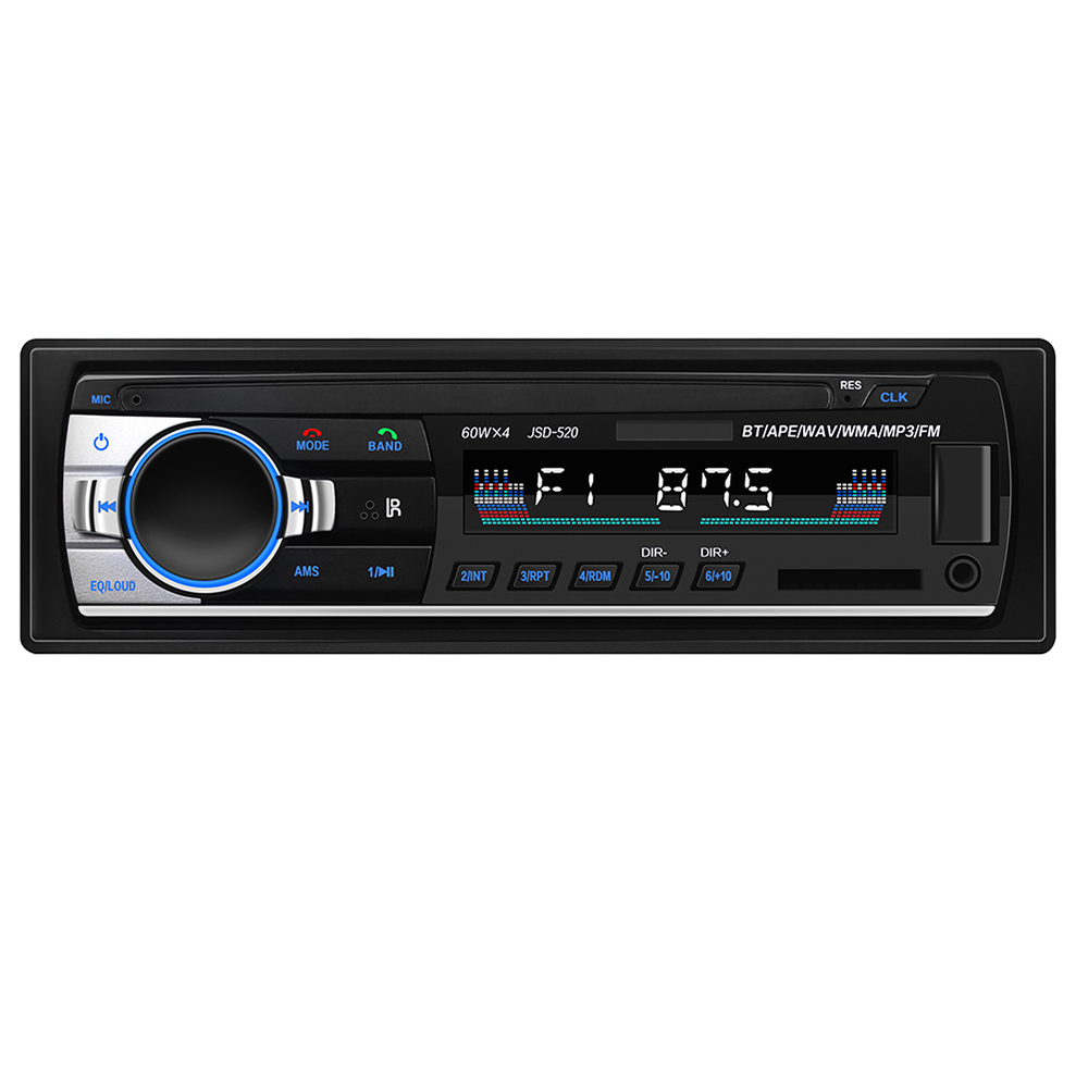 Auto <font><b>MP3</b></font> <font><b>Player</b></font> Auto Audio <font><b>Player</b></font> JSD-520 Bluetooth BT Stereo Autoradio 12V In-dash FM Aux Eingang Empfänger musik-<font><b>Player</b></font> Sd-karte <font><b>USB</b></font> image
